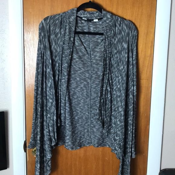 BDG Sweaters - Black and white stripe cardigan